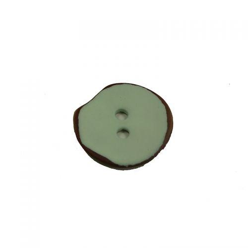 Bouton nacre vernis mat 15mm