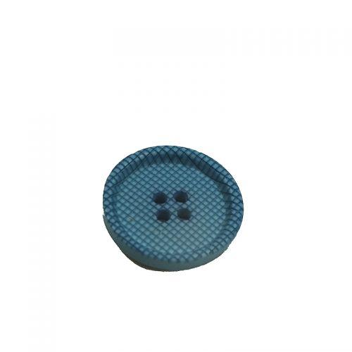 Bouton bleu texturé 20 mm