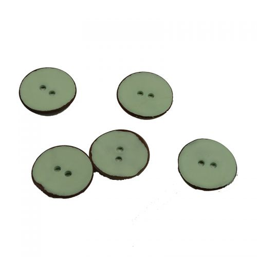 Bouton nacre vernis vert 18mm