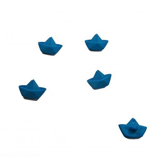 Bouton bateau bleu 20 mm