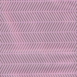 Tissu coton rose chevrons glitter