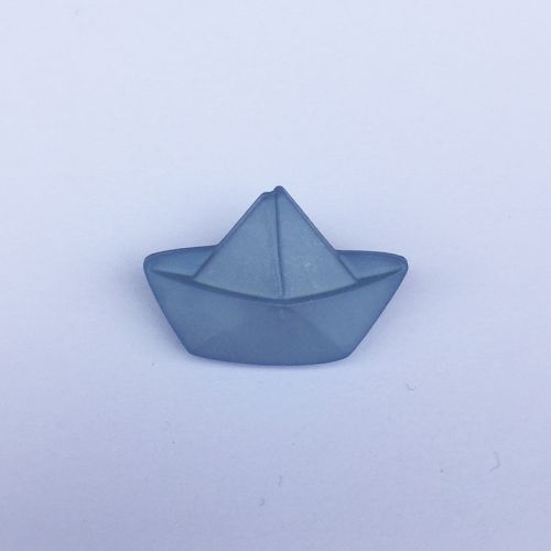 Bouton bateau sur pied 20 mm gris