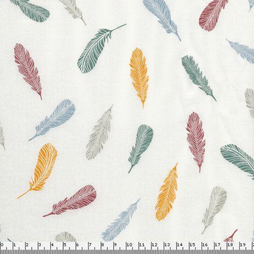Tissu popeline plumes