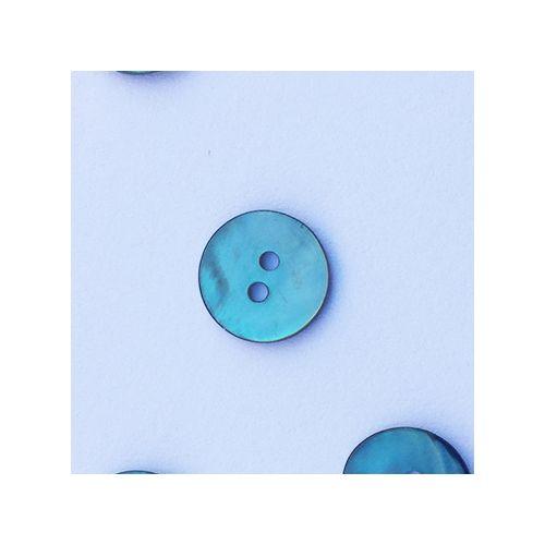Bouton nacre 12 mm vert d'eau