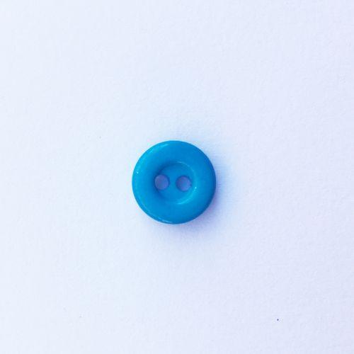 Bouton uni turquoise