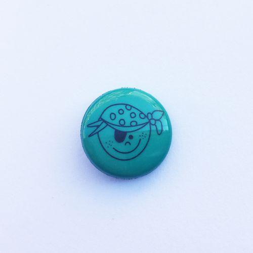 Bouton pirate vert
