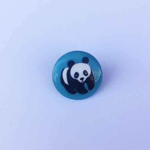 Bouton fantaisie 15 mm  vert panda
