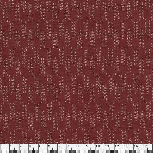 Tissu japonais 100 % coton larg 110 cm petites flêches rouge