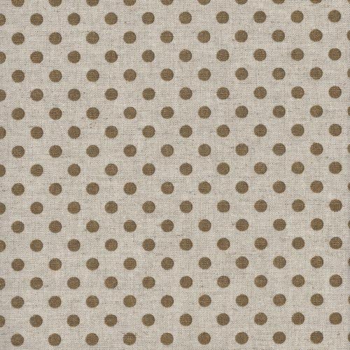 Tissu coton japonais pois or fond naturel