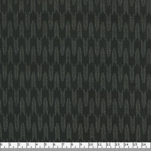 Tissu coton japonais petites flêches fond noir