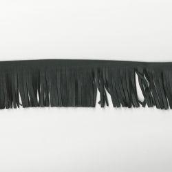Franges simili cuir noir