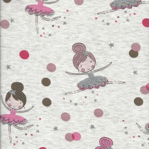 Sweat envers minky danseuses rose et glitter