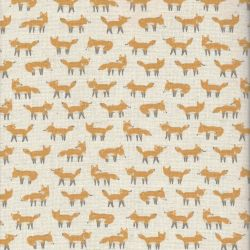 Tissu japonais motif petits renards