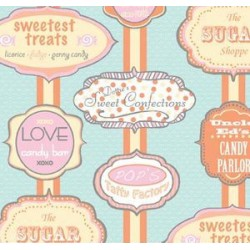Dotties sweet shop-label candy shop-P&B