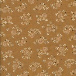 Tissu viscose Dashwood Studio dandelions fond moutarde