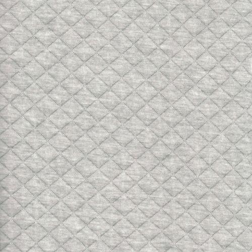 Tissu matelassé gris lurex argent larg 150 50%cot/50%pol