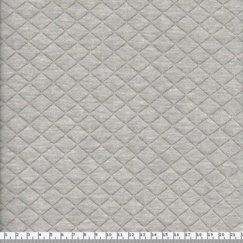 Tissu matelassé gris lurex doré larg 150 50%cot/50%pol