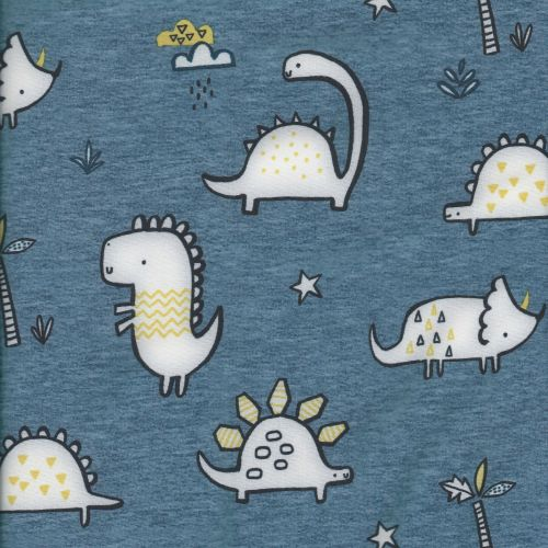 Tissu softshell dinosaures