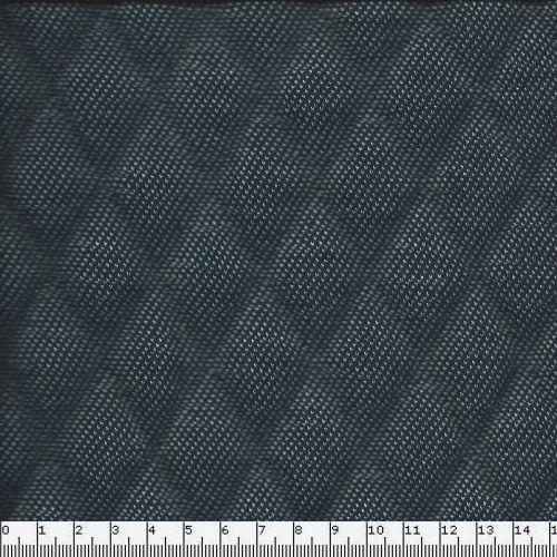 Tissu matelassé effet jean bleu foncé envers blanc