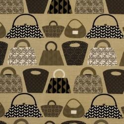 Tissu sac fond brun