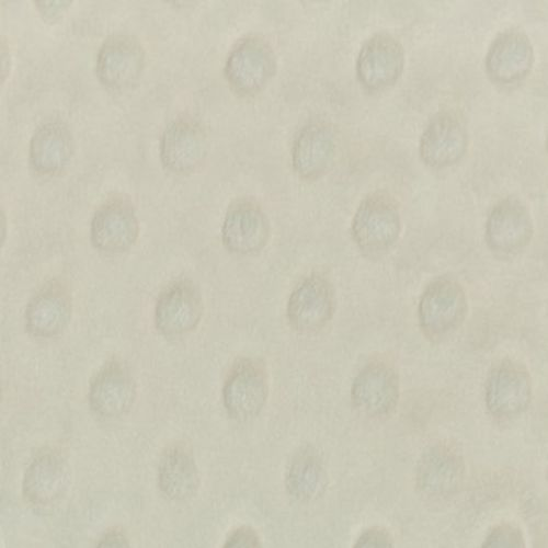 Tissu Minky dot ivoire