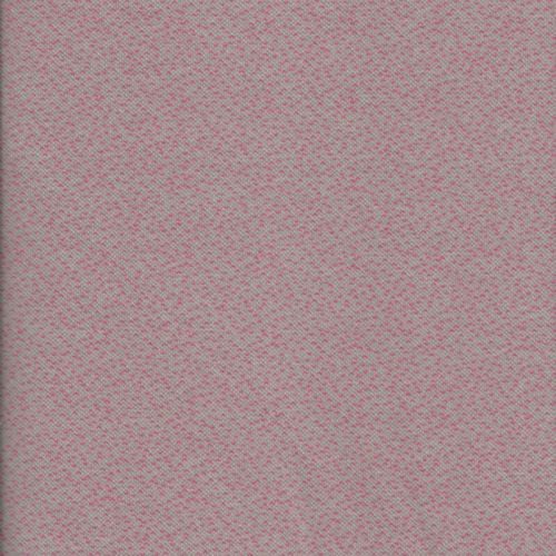 Tissu maille 100% cot BIO larg180 cm jacquard dotties rose