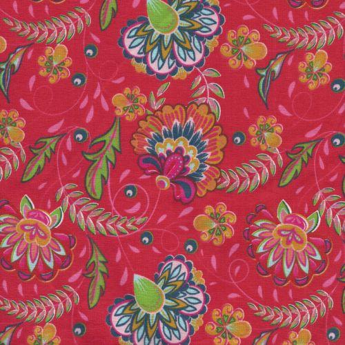 Tissu jersey babouchka rouge larg 150 95%cot/5%el