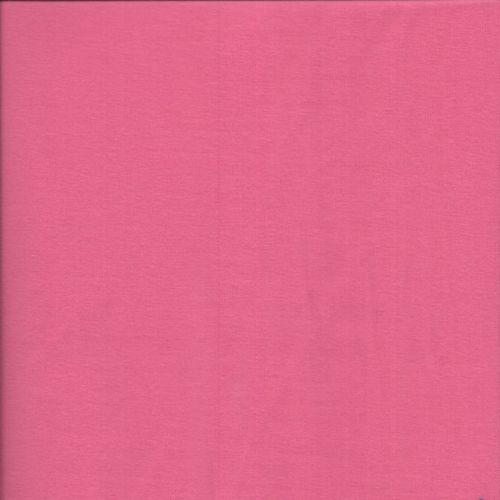 Tissu jersey BIO rose larg 145 95%cot/5%el
