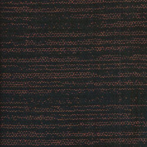 Tissu maille noir et orange 48%pol/36%co/16%pan