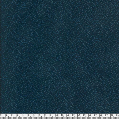 Tissu maille 100% cot BIO larg180 cm jacquard dotties bleu