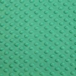 Tissu Minky dot vert algues