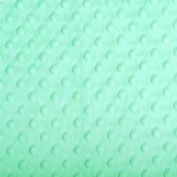 Tissu Minky dot vert opale