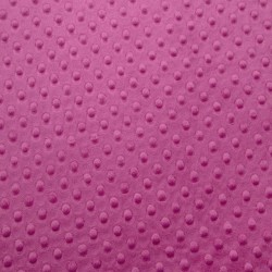Tissu Minky dot framboise
