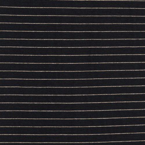 Tissu jersey marinière Mousterlin noir et or