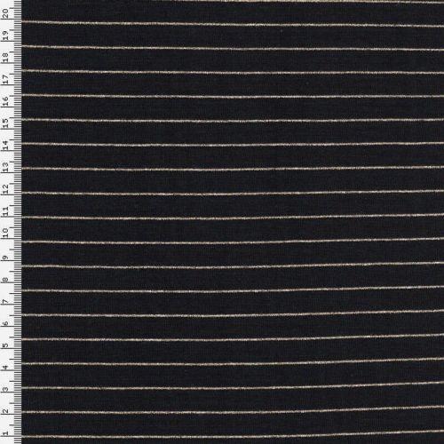 Un chat sur un fil et son jersey marinière Mousterlin noir et or