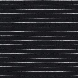 Tissu jersey marinière Mousterlin noir et argent