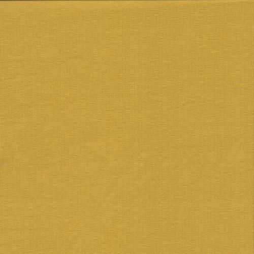 Tissu jersey uni jaune 95%cot BIO /5%el larg 145 cm