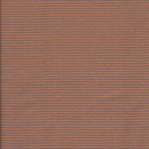 Tissu jersey fines rayures gris et orange