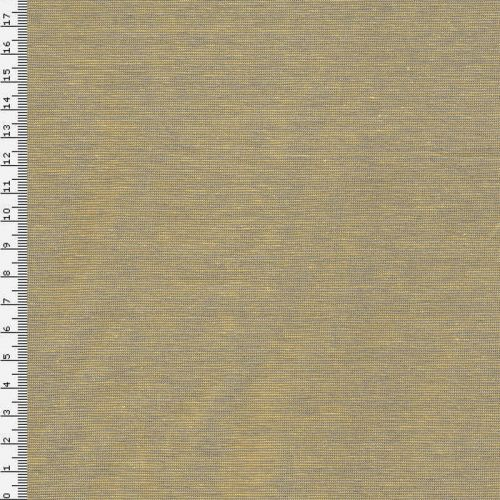 Tissu jersey très fines rayures gris et jaune