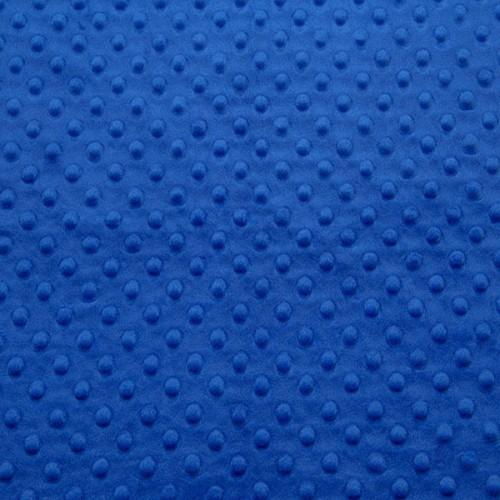 Tissu Minky dot bleu électrique