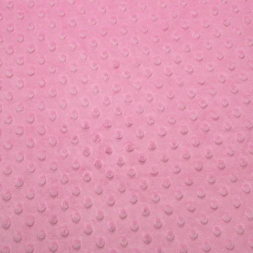 Tissu Minky dot rose barbe à papa