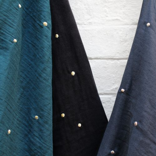 Tissu Stardust night 100% coton double gaze larg 140 cm AB
