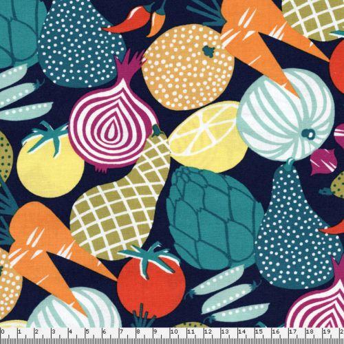 Tissu Michael Miller petits légumes du marché