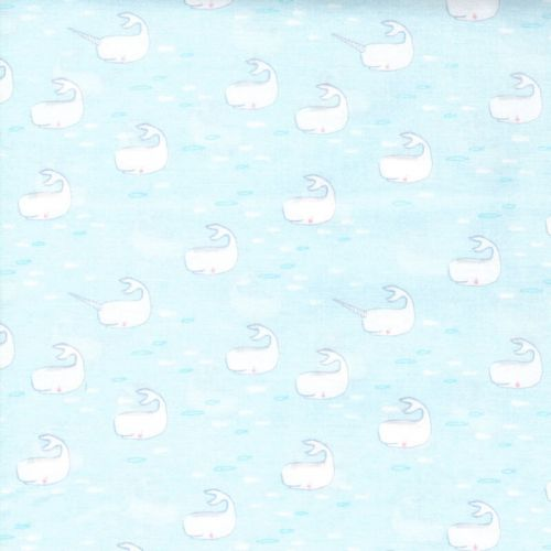 Tissu petites baleines Michael Miller