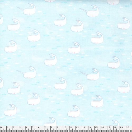Tissu Michael Miller petites baleines