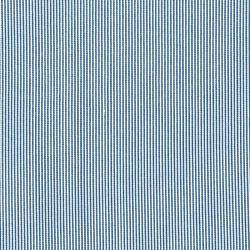 Tissu fines rayures blanc/bleu 100% viscose larg 150cm