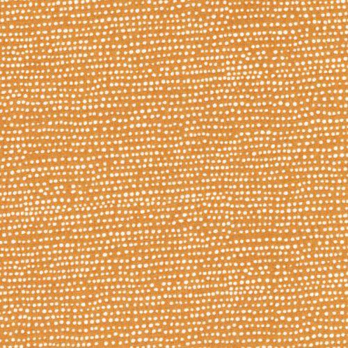 Tissu pois irréguliers fd moutarde 100% coton larg 110 cm