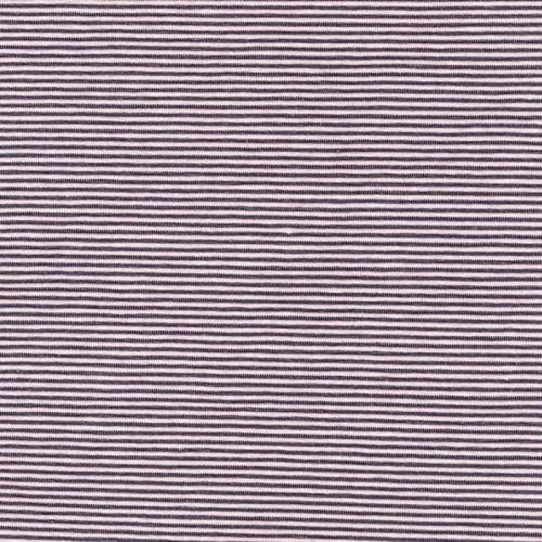 Tissu jersey 95%cot/5%el fines rayures gris et rose pale lar