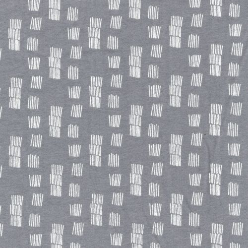 Tissu sweat funky stripes fond gris