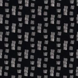 Tissu sweat funky stripes fond noir